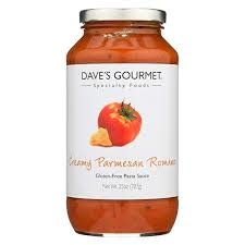 Dave's Gourmet Creamy Parmesan Romano Pasta Sauce, Gluten Fee