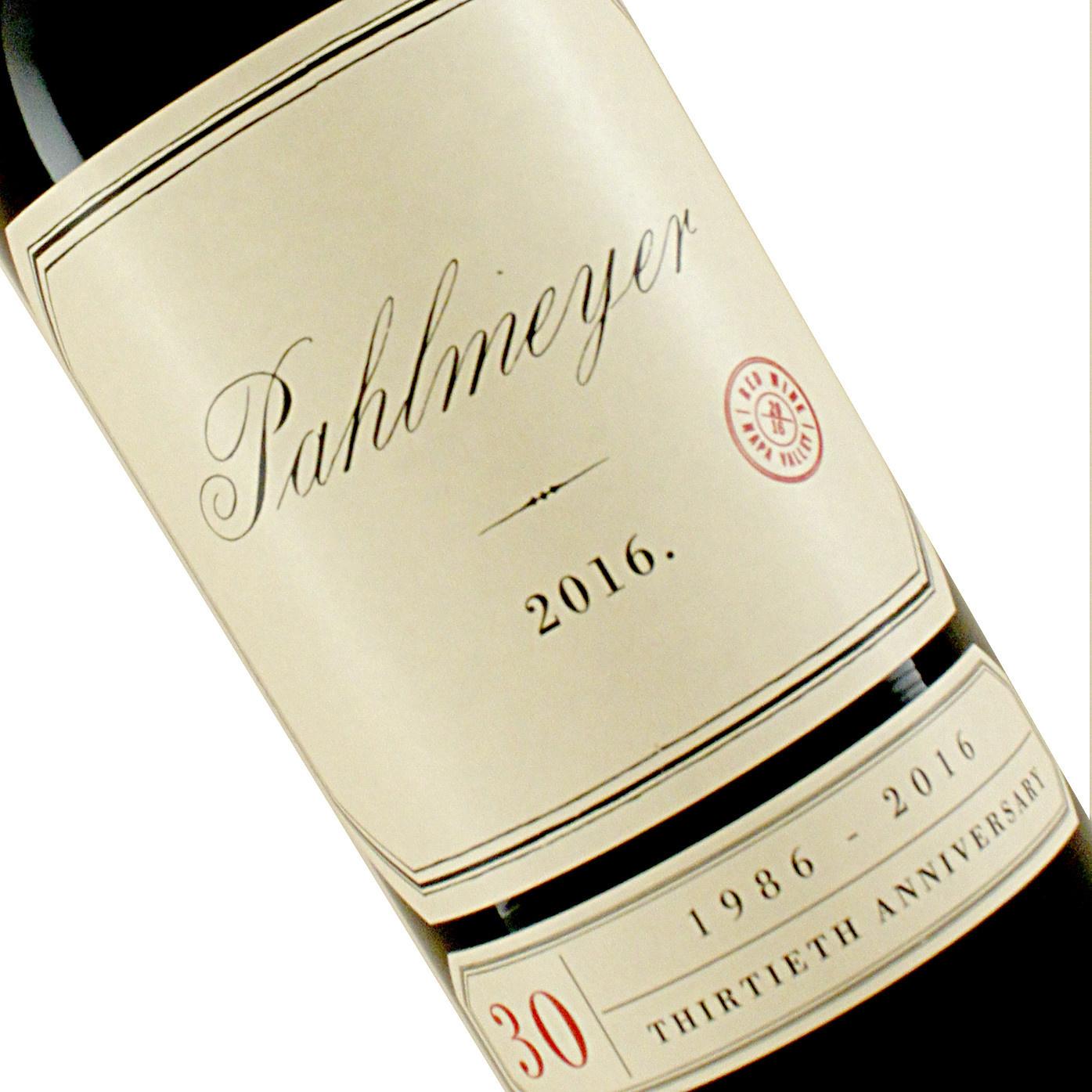 Pahlmeyer 2016 Red Wine Napa Valley Proprietary Blend 30th Anniversary