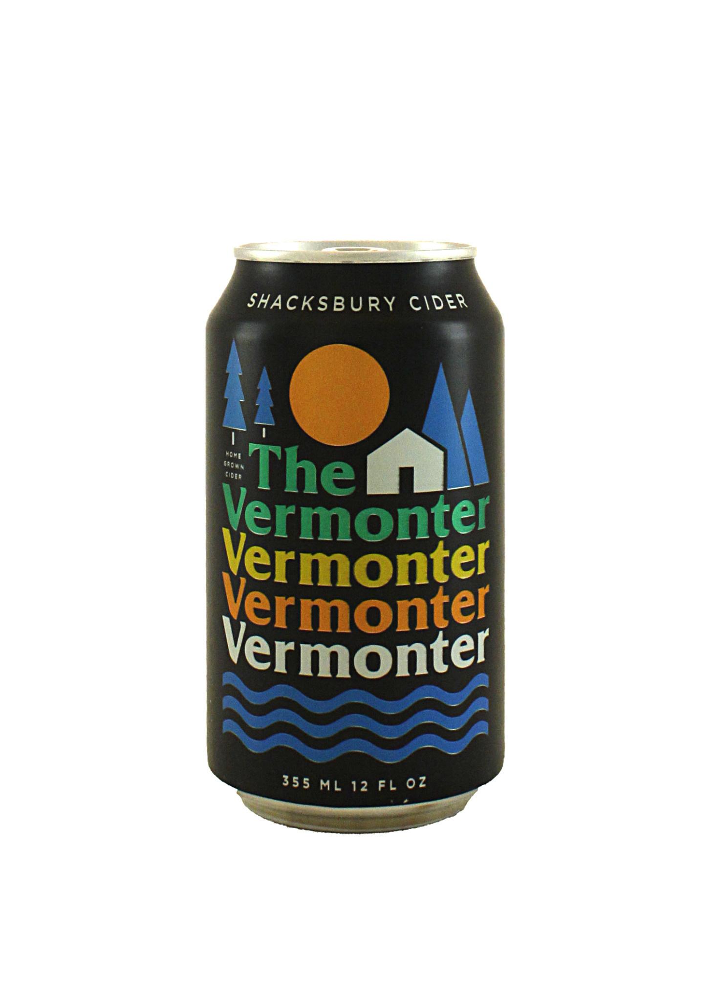 """Shacksbury Cider """"The Vermonter"""" 12oz. Can, Vermont"""