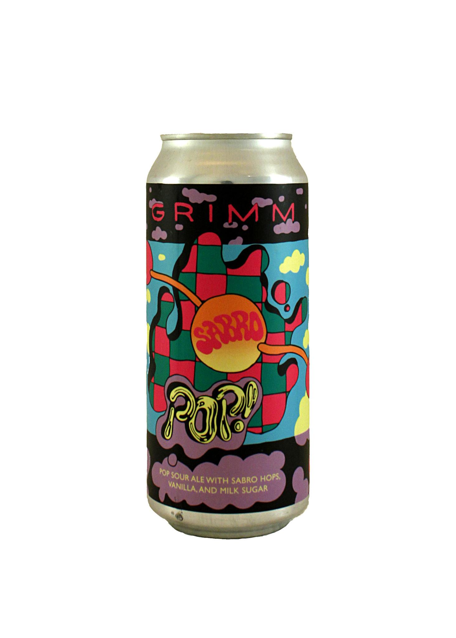 """Grimm """"SABRO Pop!"""" Pop Sour Ale w/ Sabro Hops & Vanilla 16oz. Can - Brooklyn, NY"""