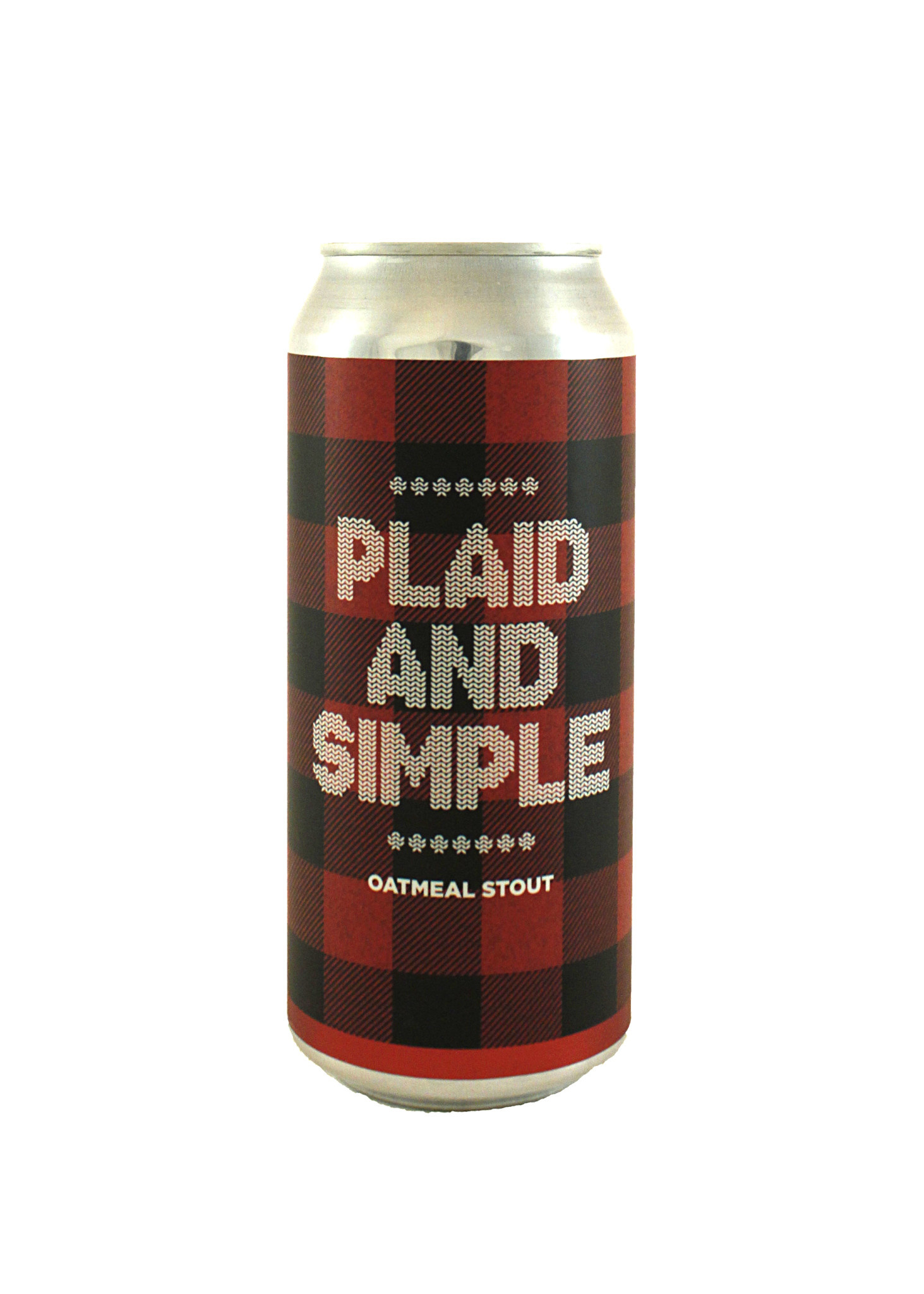 "Chapman Crafted ""Plaid & Simple"" Oatmeal Stout 16oz. Can - Orange, CA"