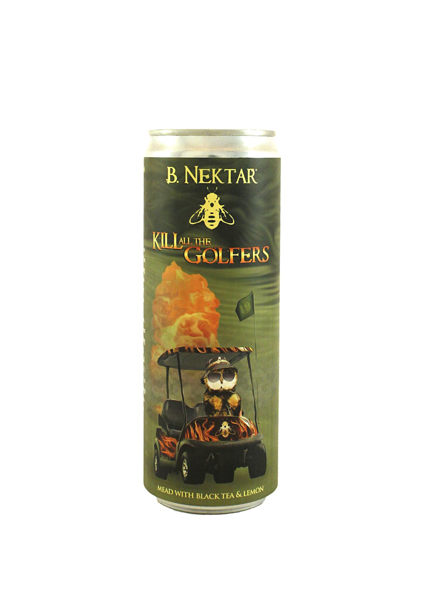 """B. Nektar """"Kill All The Golfers"""" Mead w/ Black Tea & Lemon 12oz. Can"""