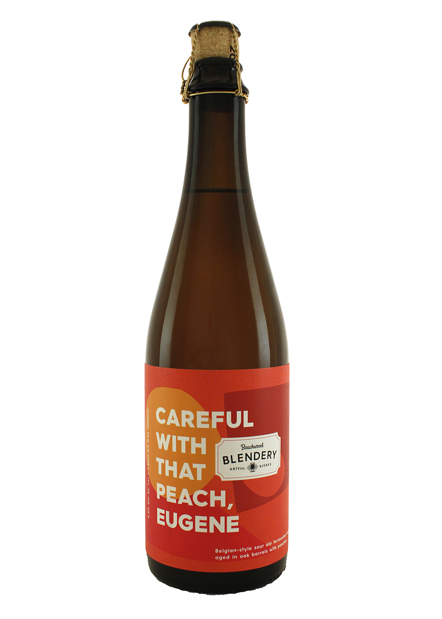 "Beachwood Blendery ""Careful With That Peach, Eugene"" Belgian-Style Sour Ale Aged w/Peaches 500ml Bottle - Long Beach, CA"