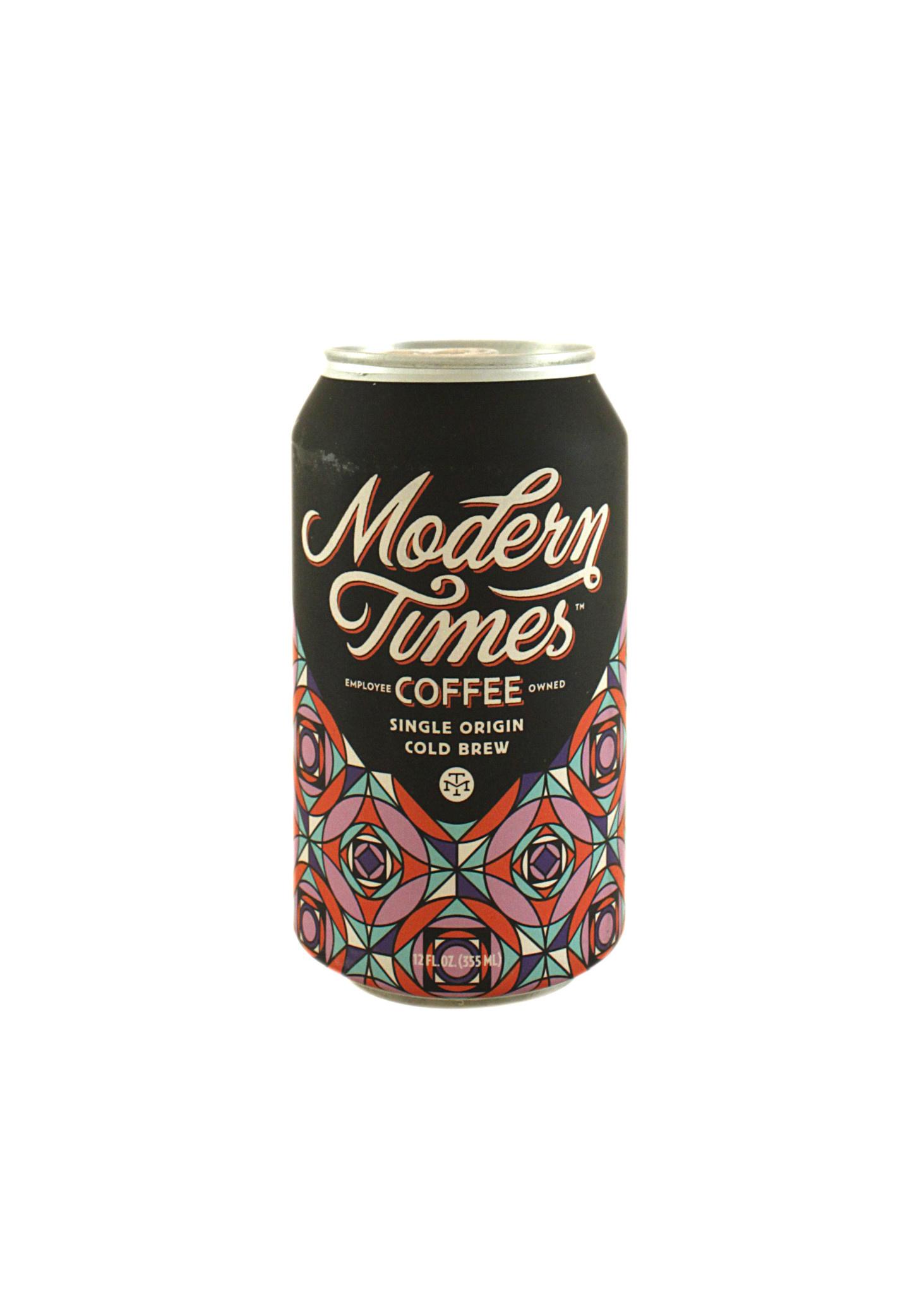 Modern Times Coffee Single Origin Cold Brew 100% Mexico 12oz. Can