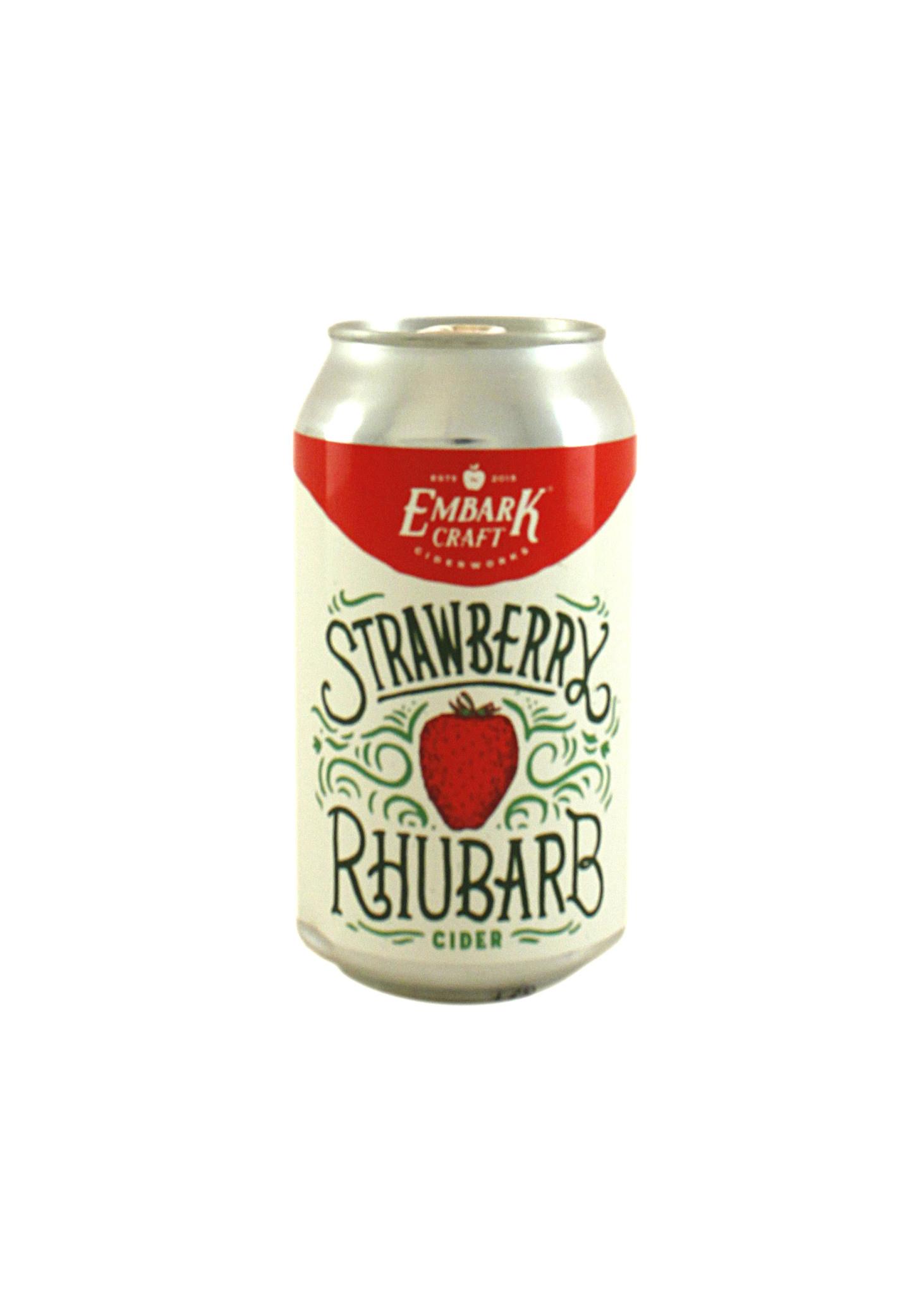 "Embark Craft Cider ""Strawberry Rhubarb"" Hard Cider 12oz. can - Williamson, NY"