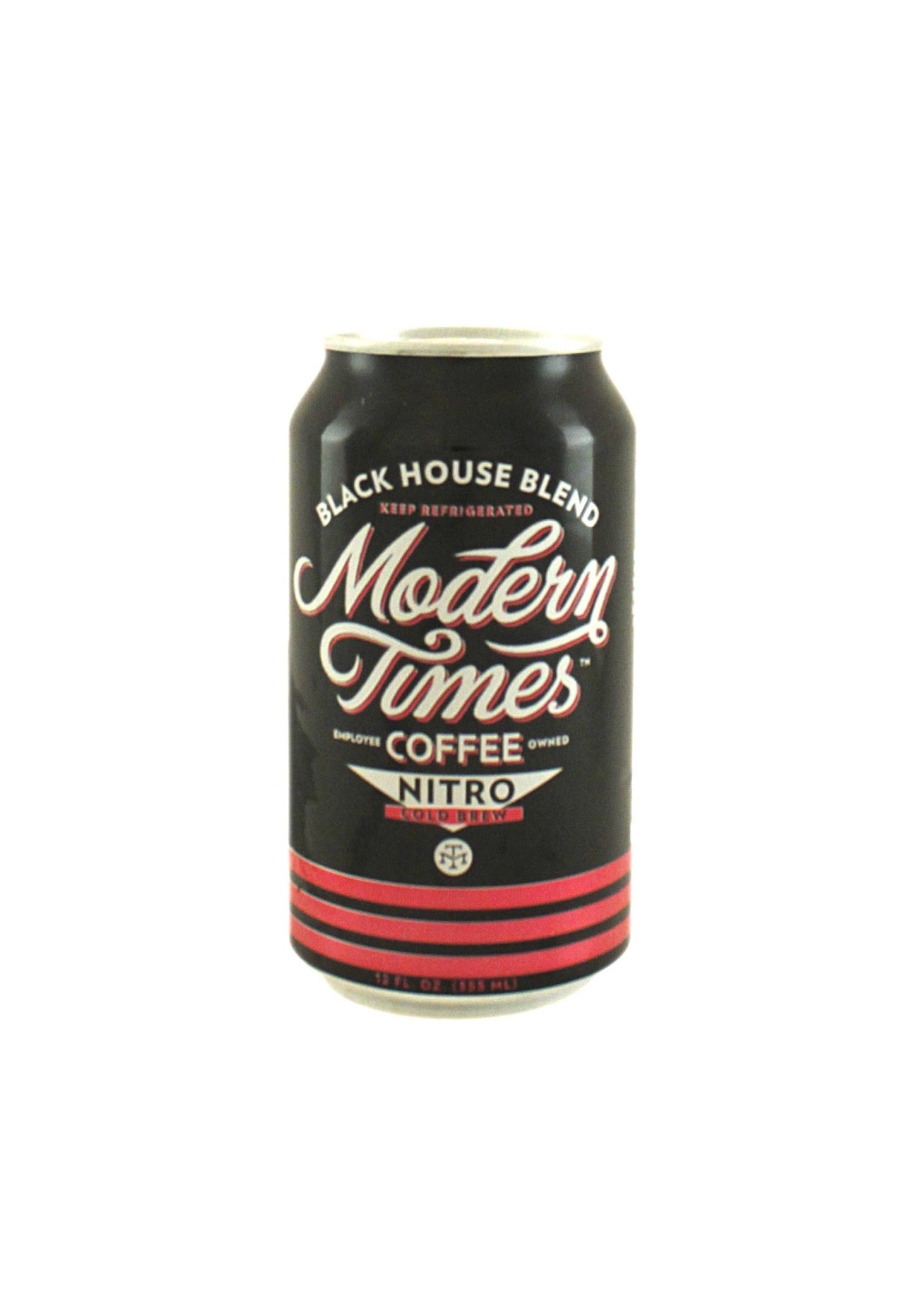 "Modern Times Coffee ""Nitro"" Cold Brew Coffee w/Blueberries & Chocolate 12oz. Can - San Diego, CA"