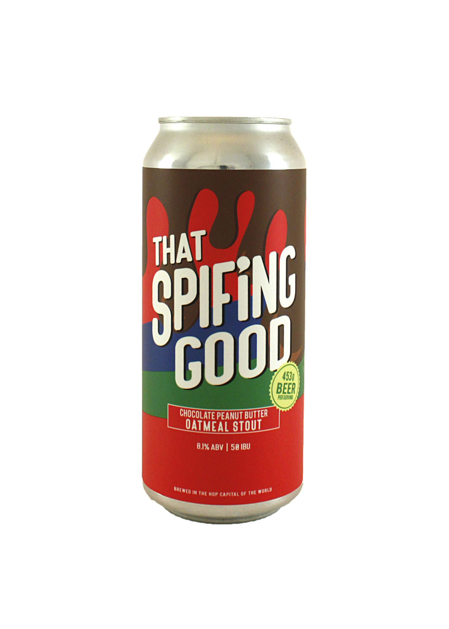 "Hop Capital ""That Spifing Good"" Chocolate Peanut Butter Stout 16oz can- Yakima, Washington"