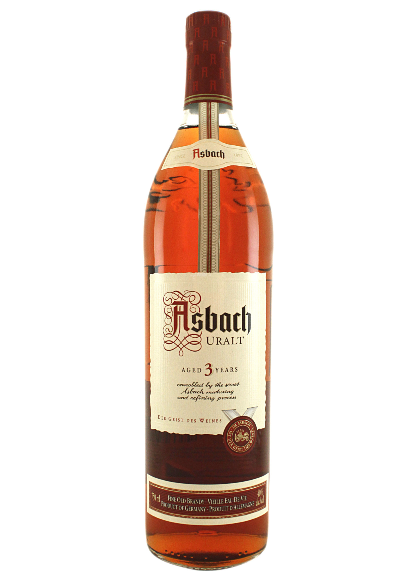 Asbach Uralt Brandy Aged 3 Years, Germany