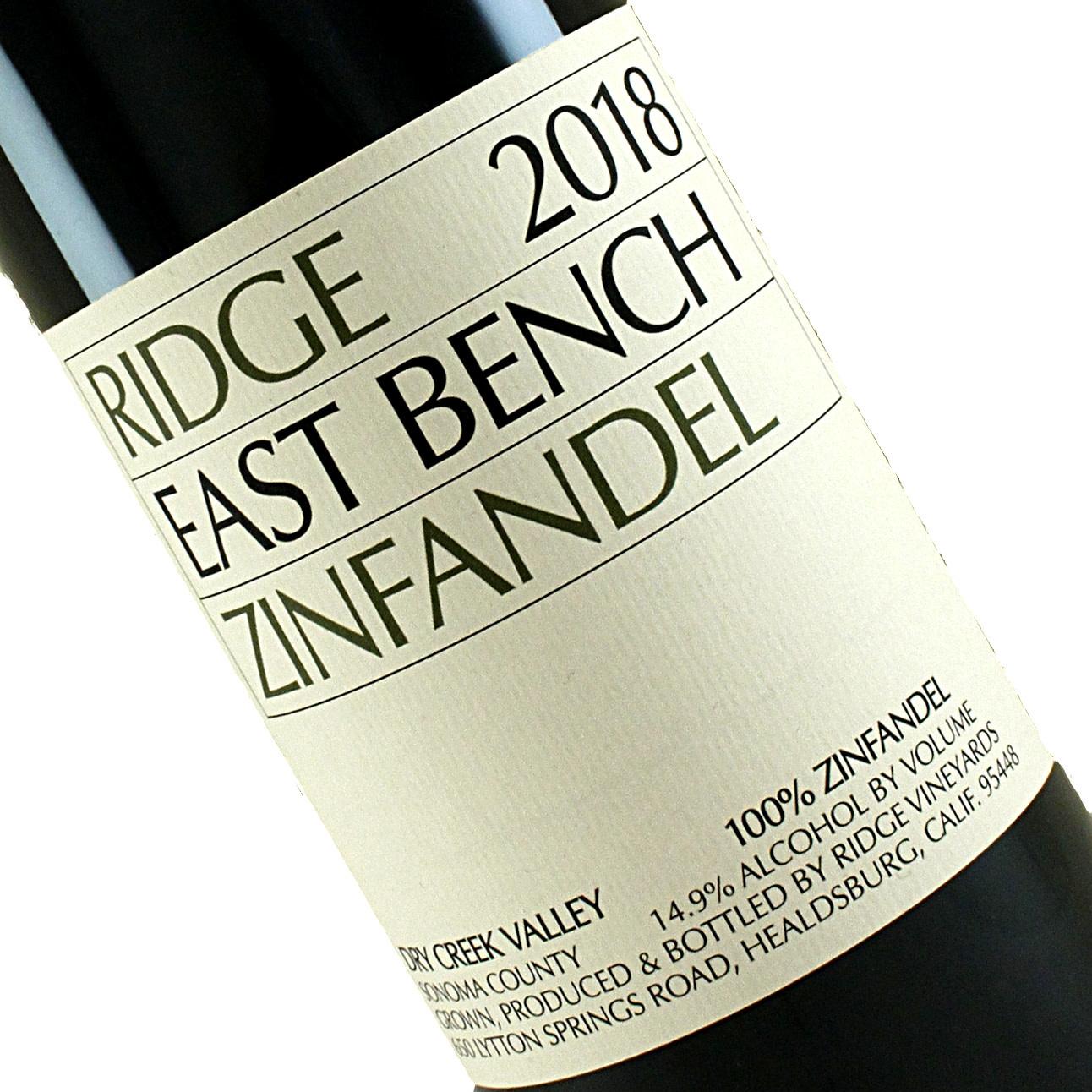 Ridge 2018 East Bench Zinfandel, Healdsburg, Sonoma