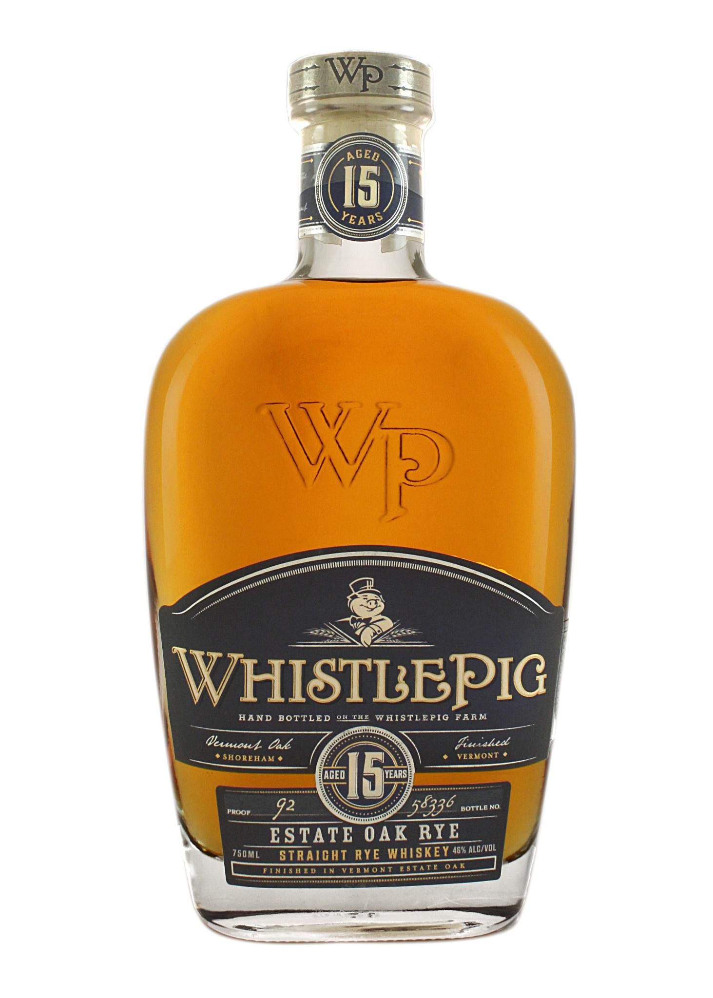 Whistlepig Estate Oak Rye Straight Rye Whiskey Aged 15 Years