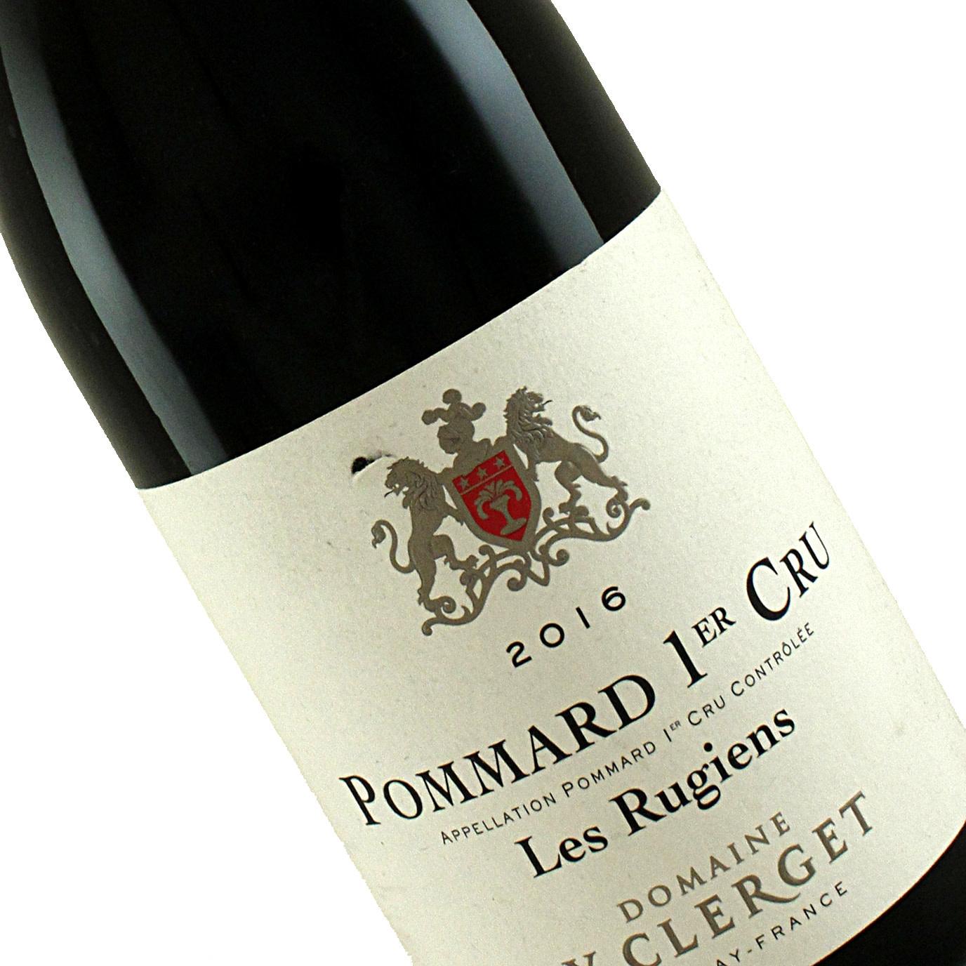 """Domaine Y. Clerget 2016 Pommard Premier Cru """"Les Rugiens"""" , Burgundy"""