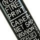 No Fine Print 2018 Cabernet Sauvignon, California