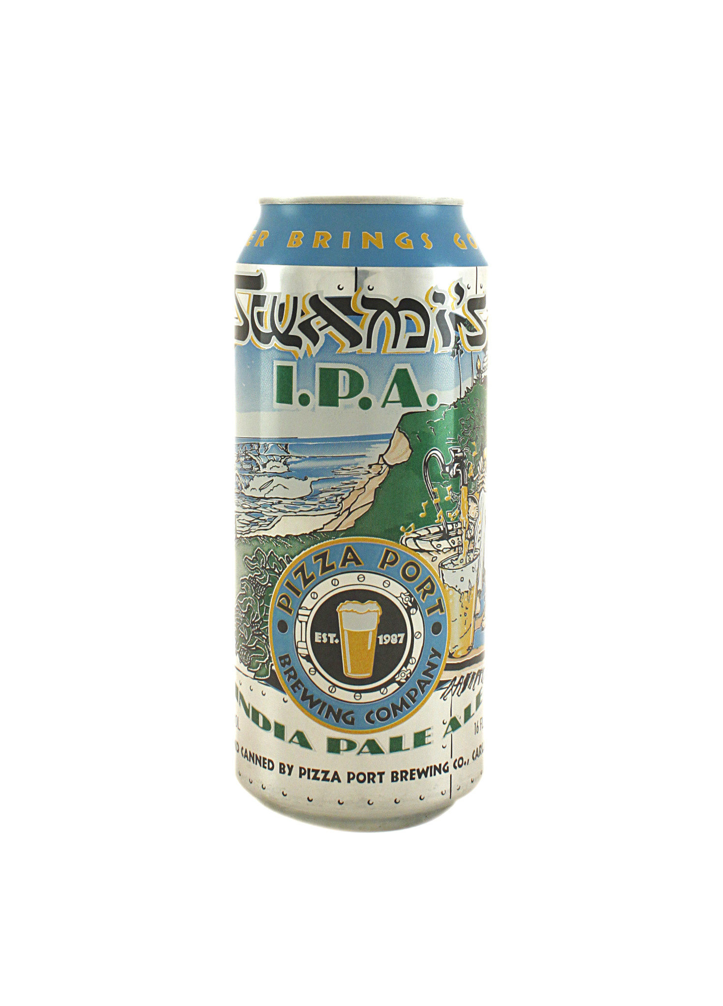 """Pizza Port Brewing """"Swami's"""" IPA,  California - 16oz can"""