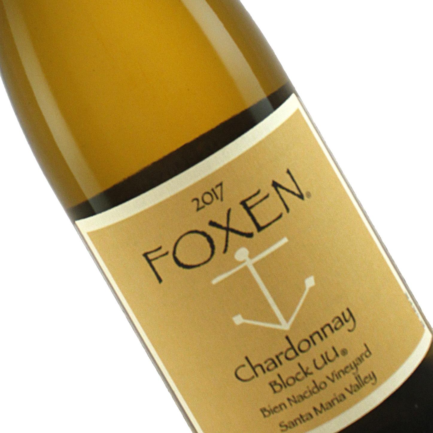 Foxen 2017 Chardonnay Block UU Bien Nacido Vineyard, Santa Maria Valley