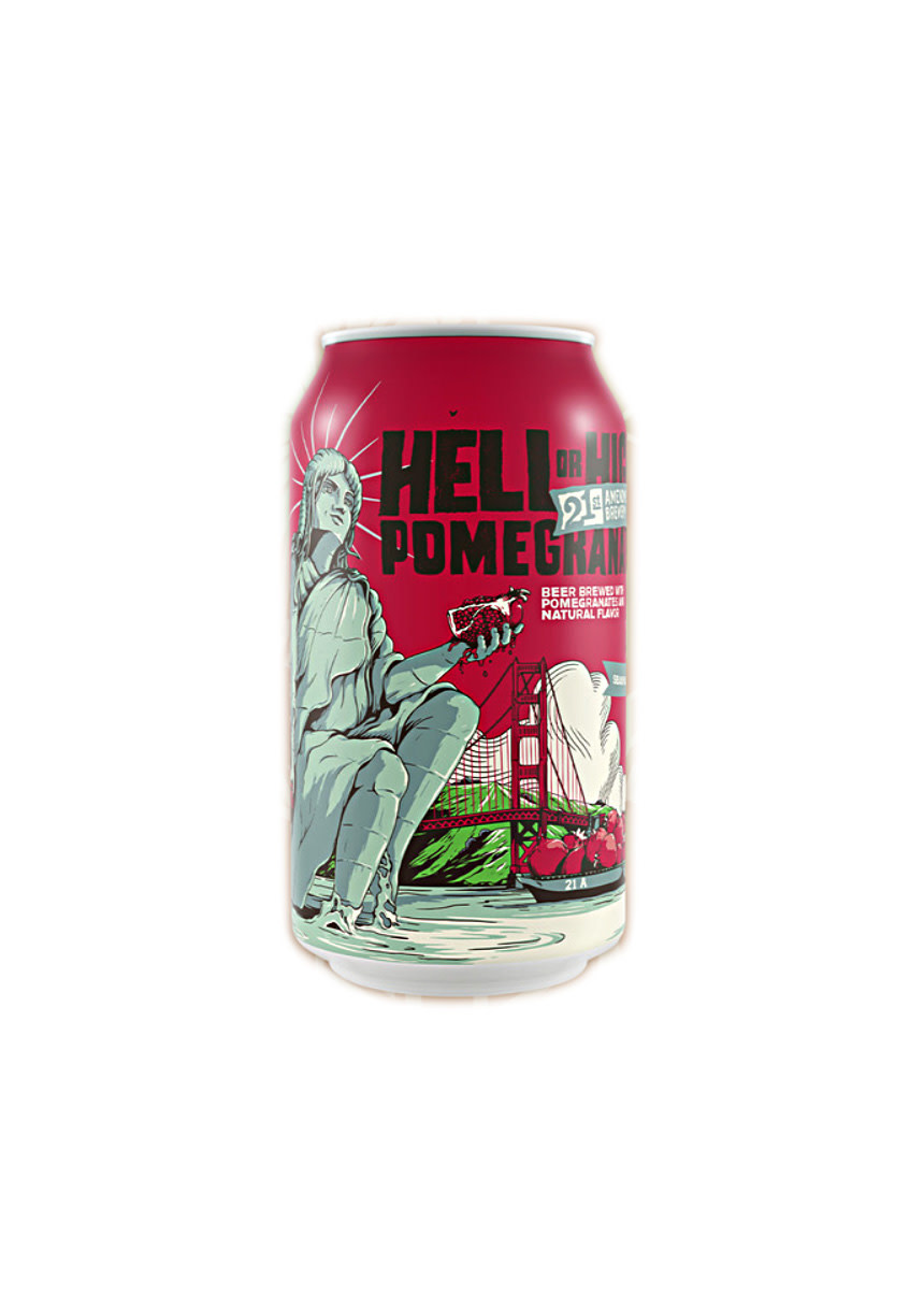 "21st Amendment Brewing ""Hell Or High Pomegranate"" 12oz. can - San Leandro, CA"