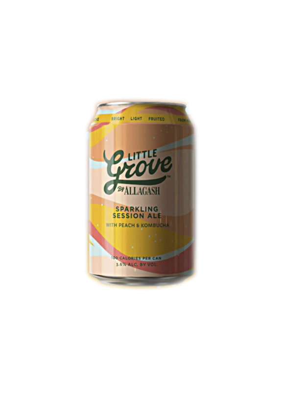 "Allagash Brewing ""Little Grove"" Sparkling Session Ale w/Peach & Kombucha 12oz. Can - Portland, Maine"