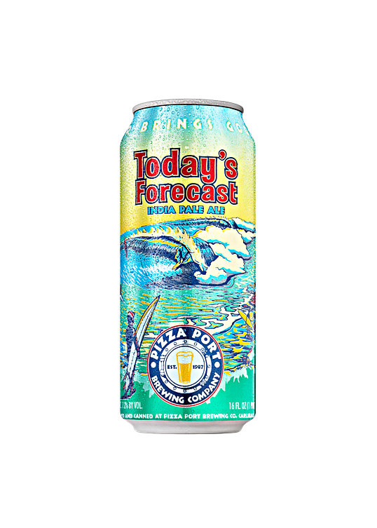 """Pizza Port Brewing """"Today's Forecast"""" IPA 16oz. Can - Carlsbad, CA"""
