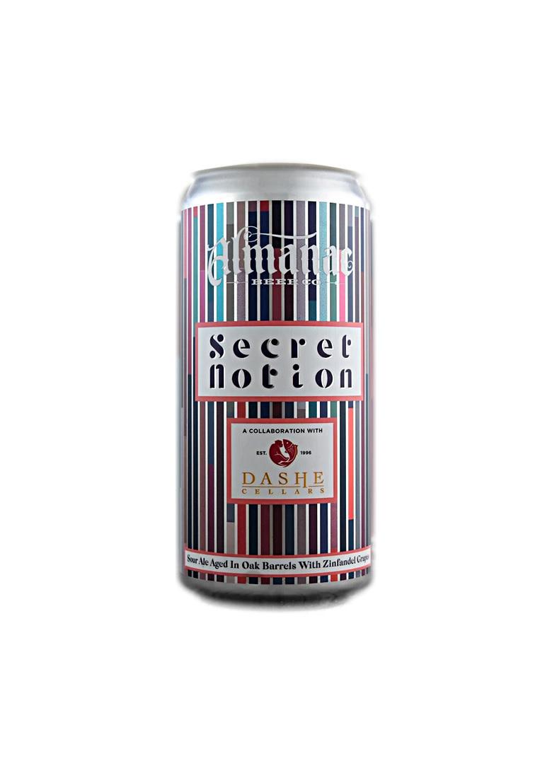 """Almanac Beer/ Dashe Cellars """"Secret notion"""" fruited sour 16oz can- alameda, CA"""
