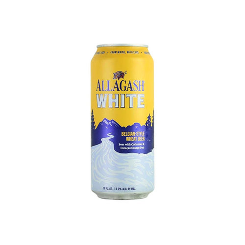"""Allagash """"White"""" Belgian-Style Wheat Beer 16oz. Can Portland, Maine"""
