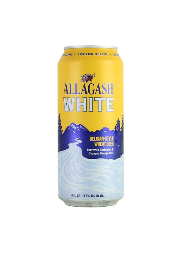 "Allagash ""White"" Belgian-Style Wheat Beer 16oz. Can Portland, Maine"