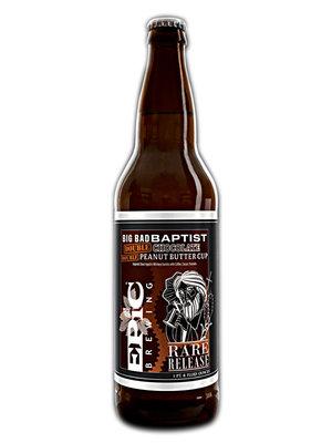 "Epic Brewing ""Big Bad Baptist"" Double Chocolate Double Peanut Butter Cup Imperial Stout 22oz. Bottle - Denver, CO"