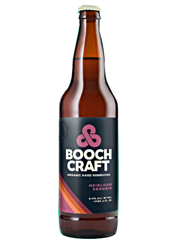 "Boochcraft ""Heirloom Sangria"" Organic Hard Kombucha 22oz. Bottle - Chula Vista, CA"