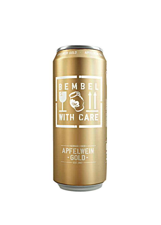 "Bembel With Care ""Apfelwein Gold"" Medium-Dry Cider 16oz. Germany"
