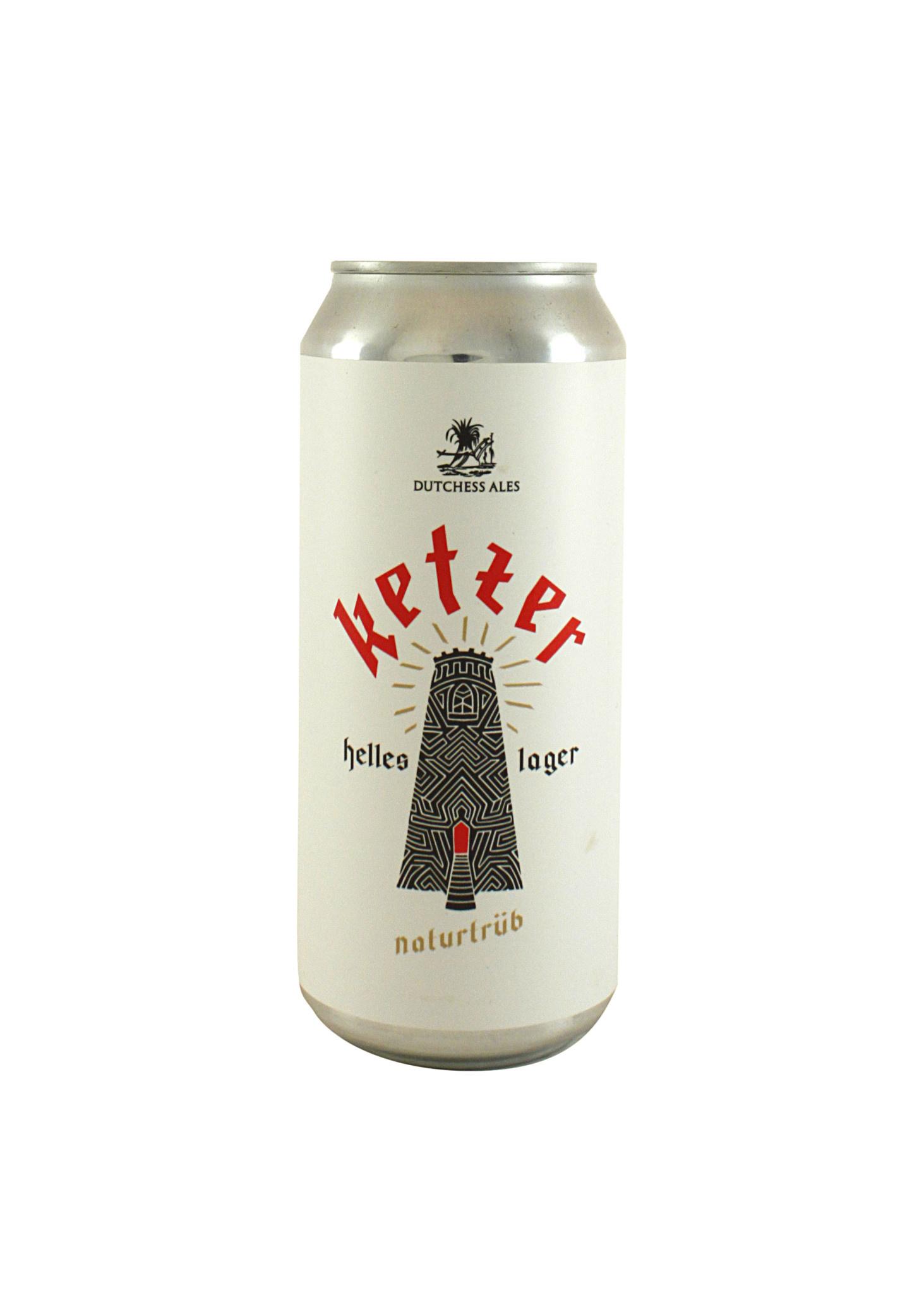 "Dutchess Ales ""Ketzer"" Helles Lager 16oz. can - Brooklyn, NY"