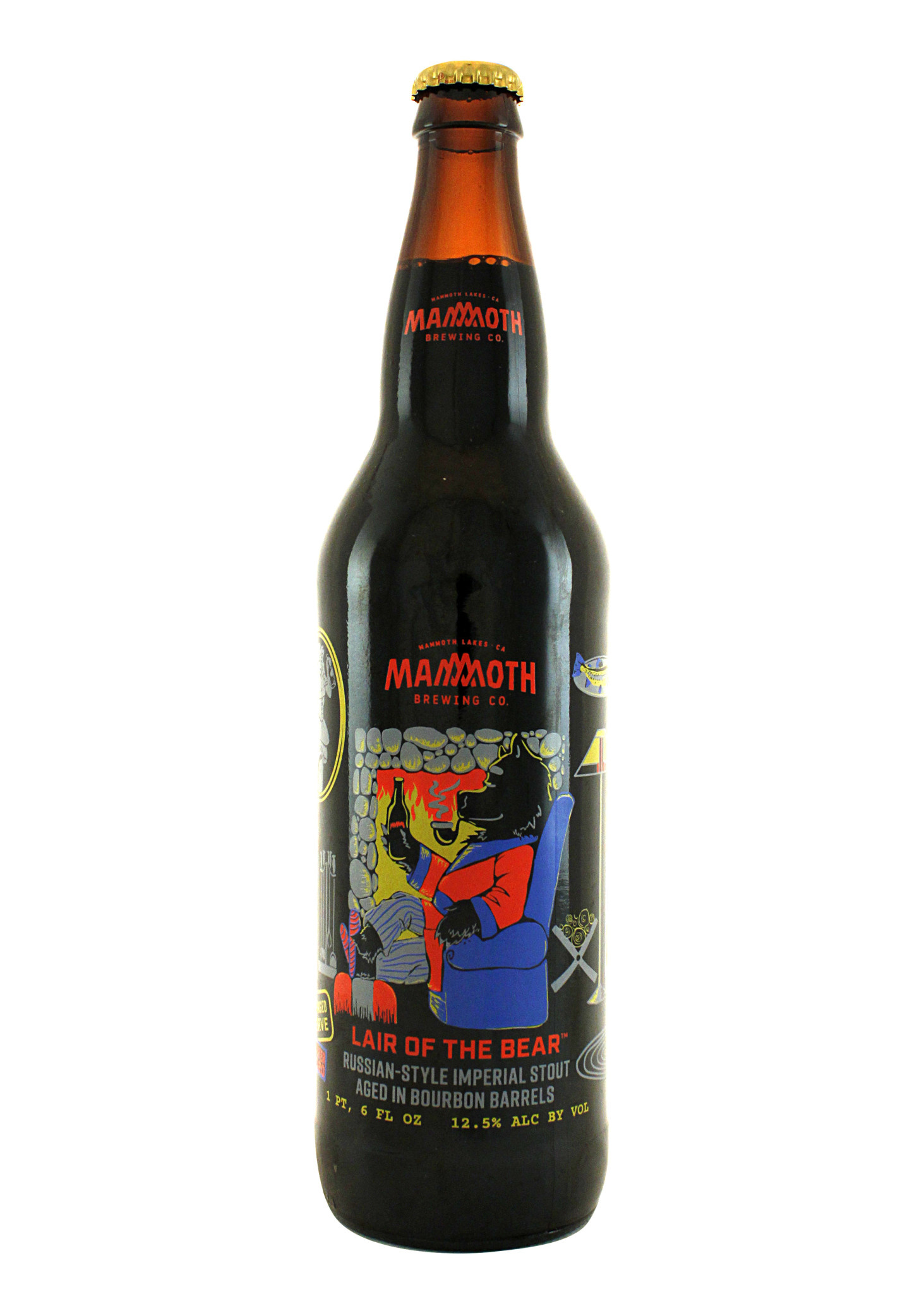 """Mammoth Brewing """"Lair Of The Bear"""" Russian-Style Imperial Stout 22oz. bottle - Mammoth Lakes, CA"""