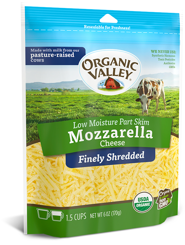 Organic Valley, Finely Shredded Mozzarella, 6 oz