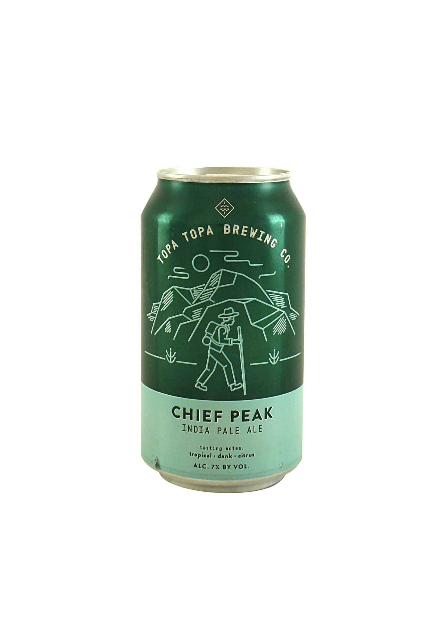 """Topa Topa Brewing """"Chief Peak"""" IPA 12oz can- Ventura, CA"""