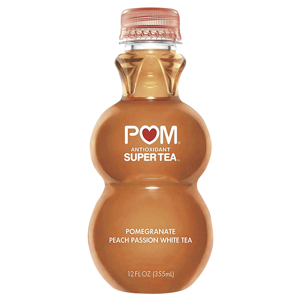 POM, Super Tea Pomegranate Peach Passion White Tea, 12 oz