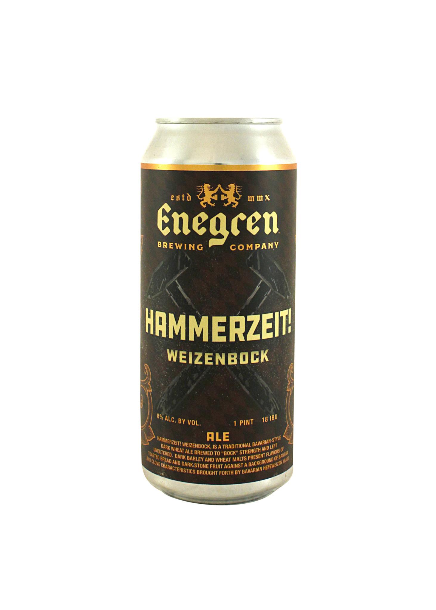 "Enegren Brewing Co ""Hammerzeit!"" Weizenbock (Dark wheat ale) 16oz can- Moorpark, CA"