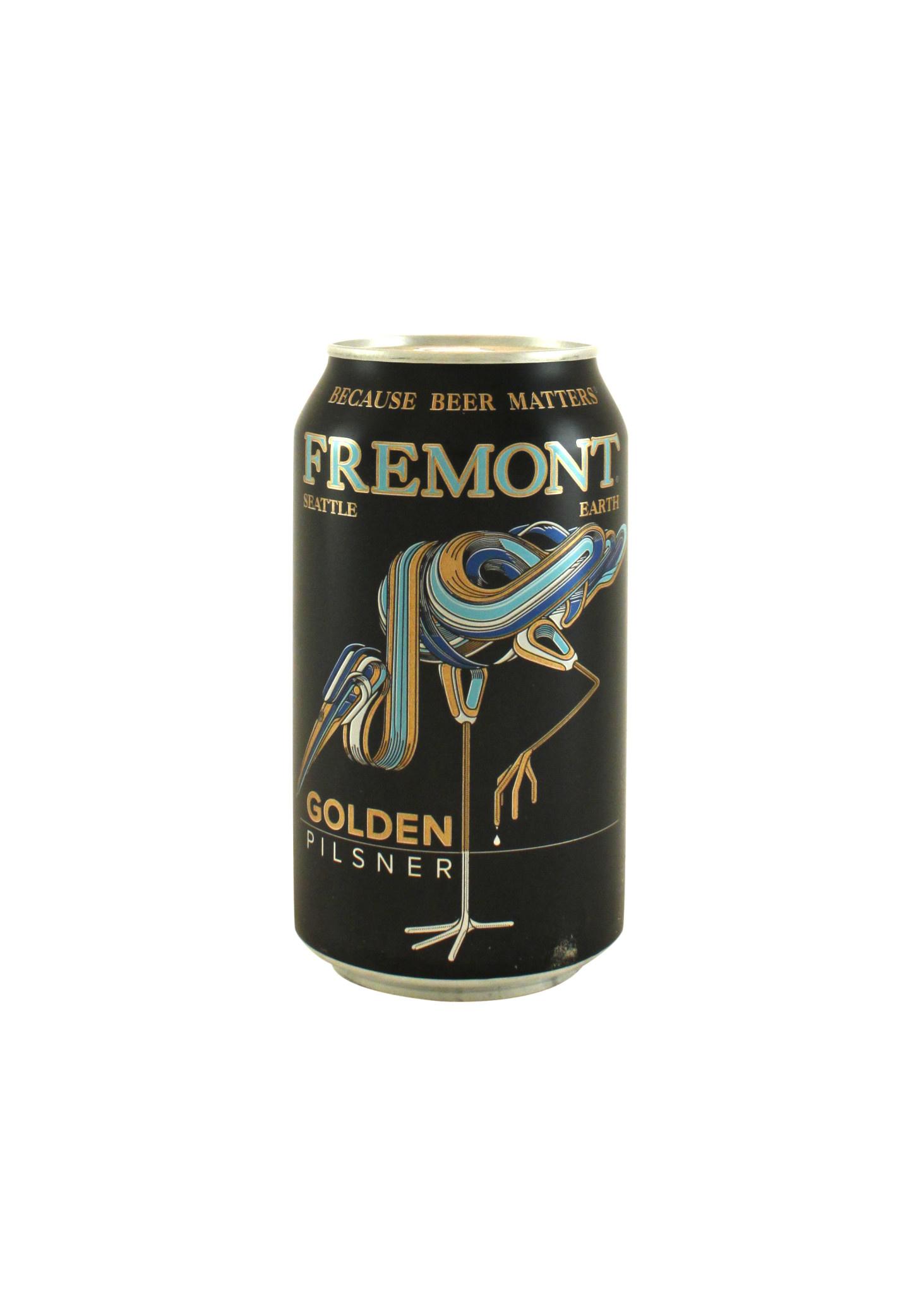 "Fremont Brewing ""Golden"" Pilsner 12oz. Can Seattle, Washington"
