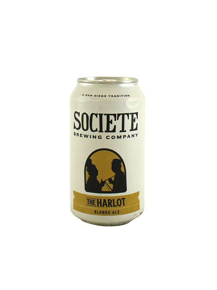 """Societe Brewing """"The Harlot"""" Blonde Ale 12oz can-San Diego- CA"""