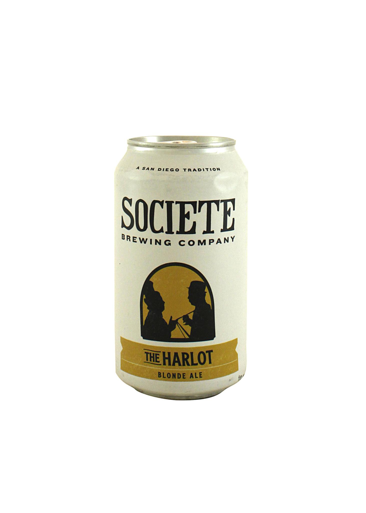 "Societe ""The Harlot"" Blonde Ale 12oz can-San Diego- CA"