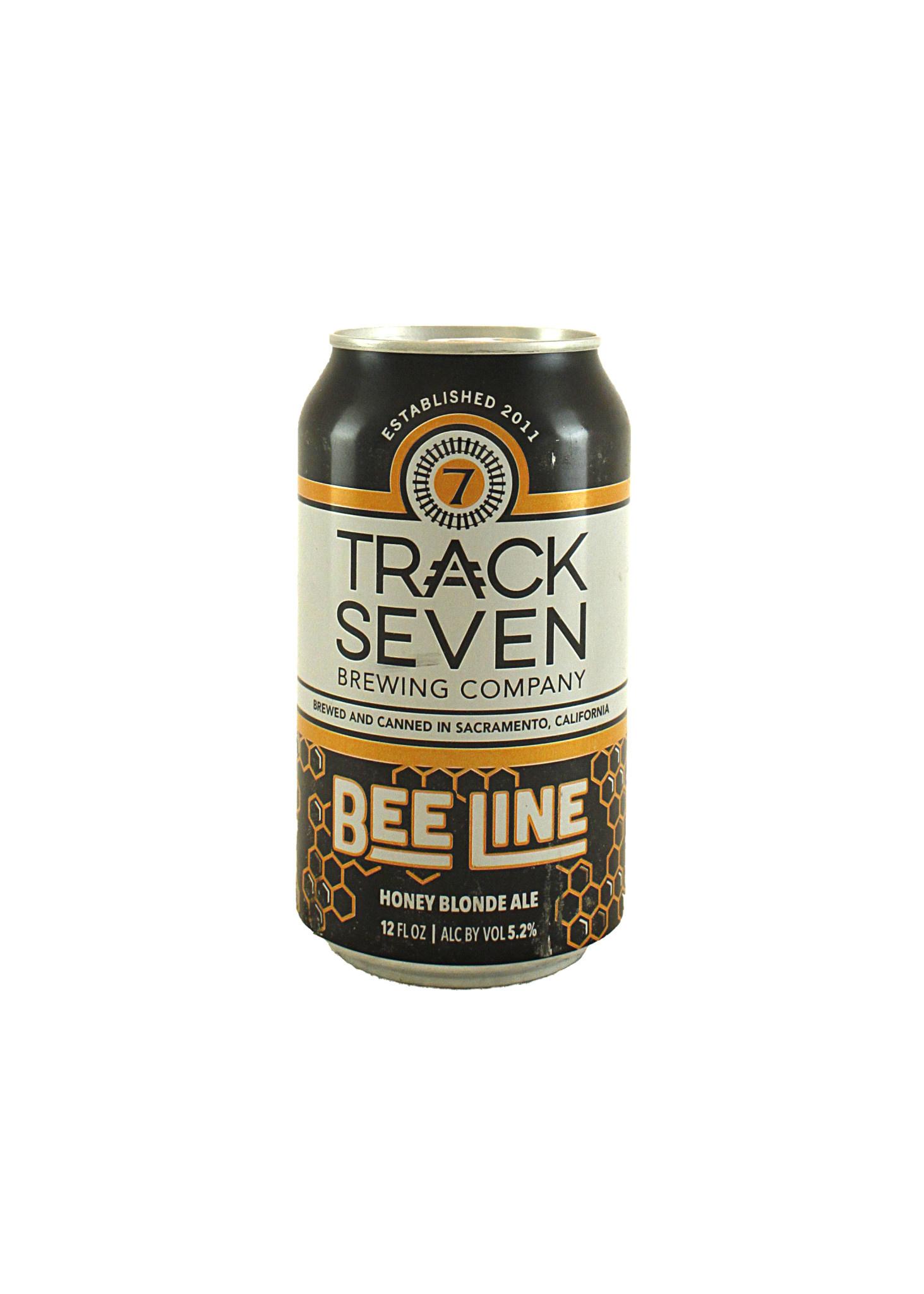 "Track Seven Brewing ""Bee Line"" Honey Blonde Ale 12oz. Sacramento, CA"