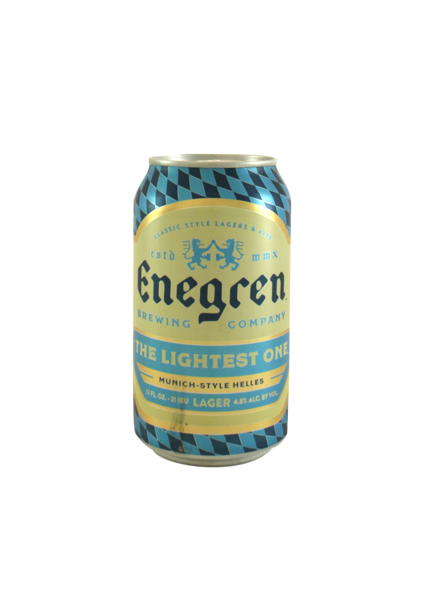 "Enegren Brewing ""The Lightest One"" Lager 12oz. Ventura, CA"