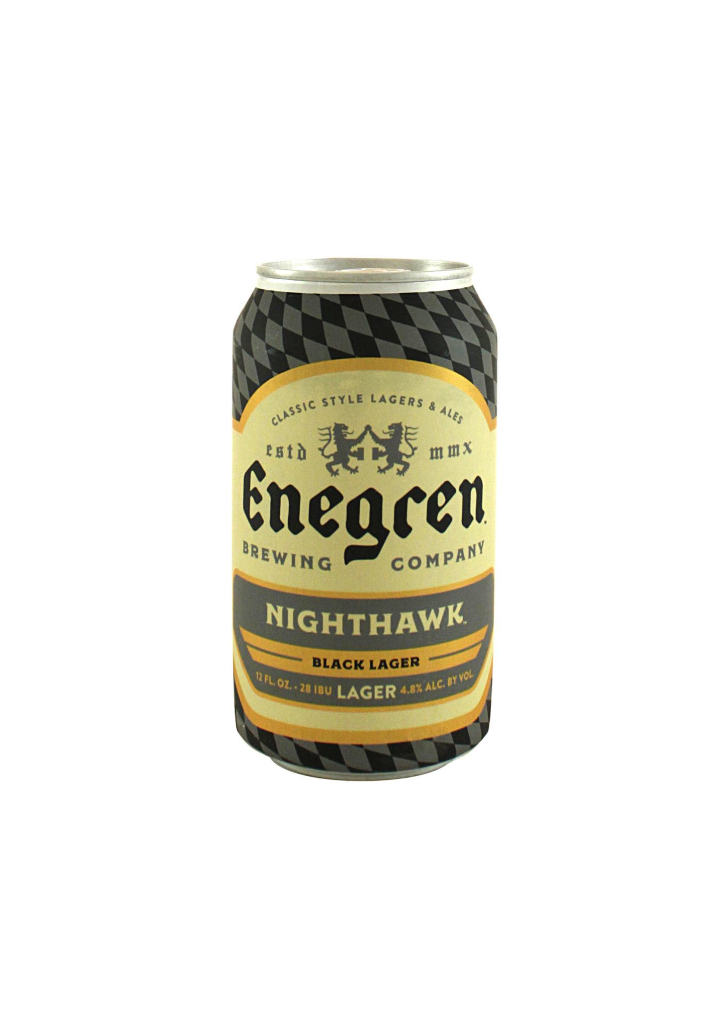 "Enegren Brewing ""Nighthawk"" Black Lager 12oz. Ventura County"