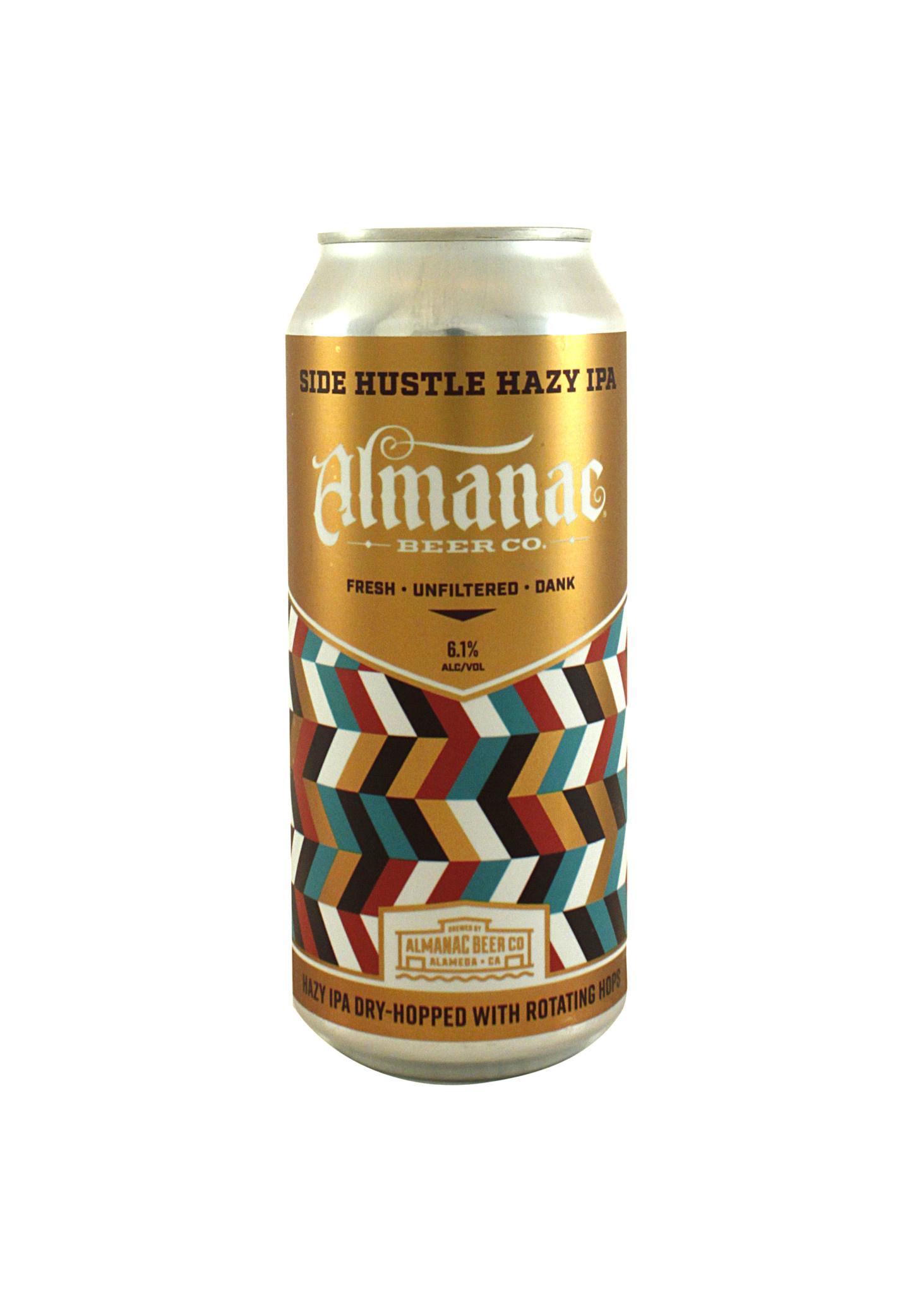 """Almanac Beer Co. """"Side Hustle"""" Hazy IPA 16oz. can - Alameda, CA"""
