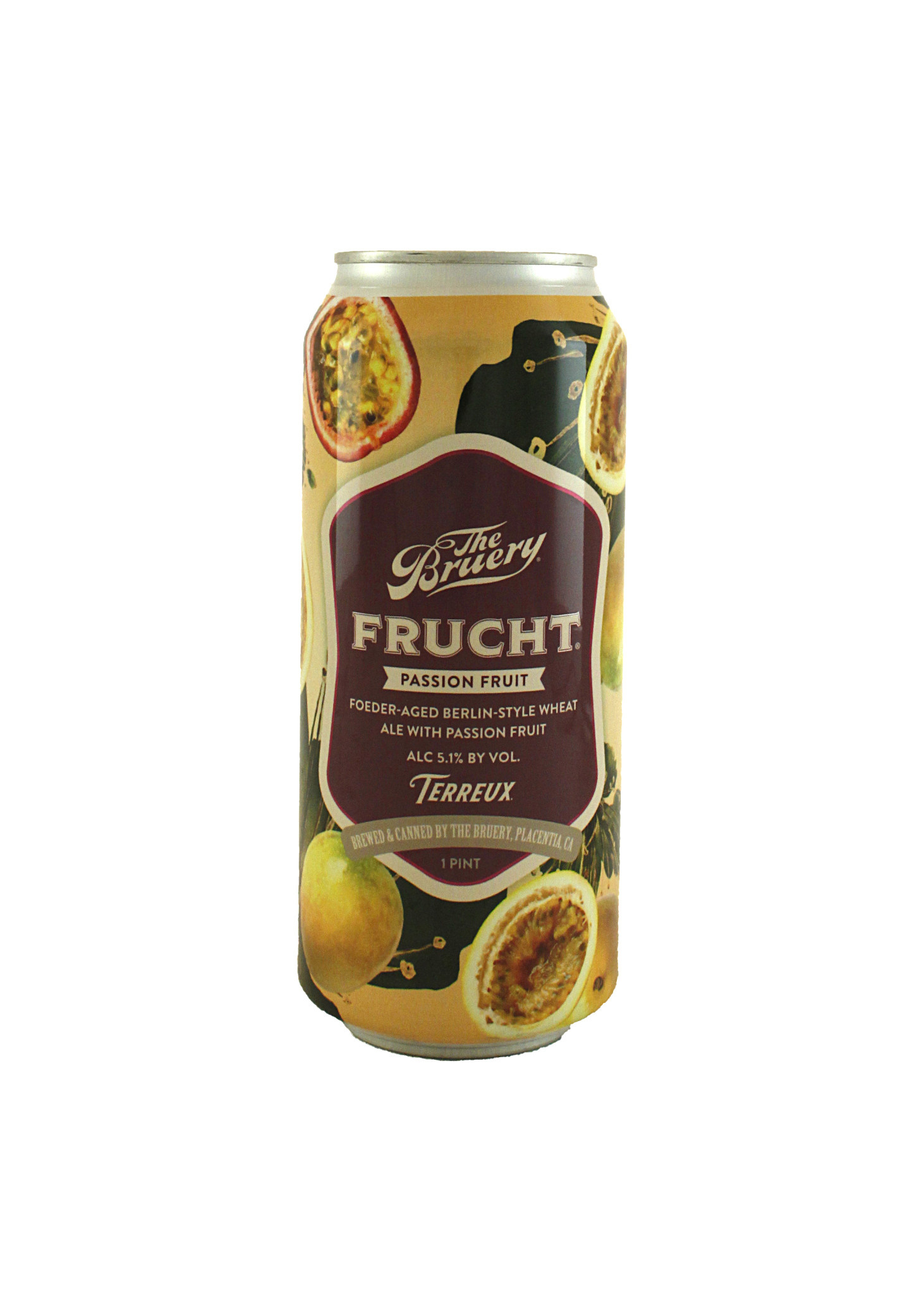 The Bruery Terreux Frucht Passion Fruit 16oz. can - Placentia, CA