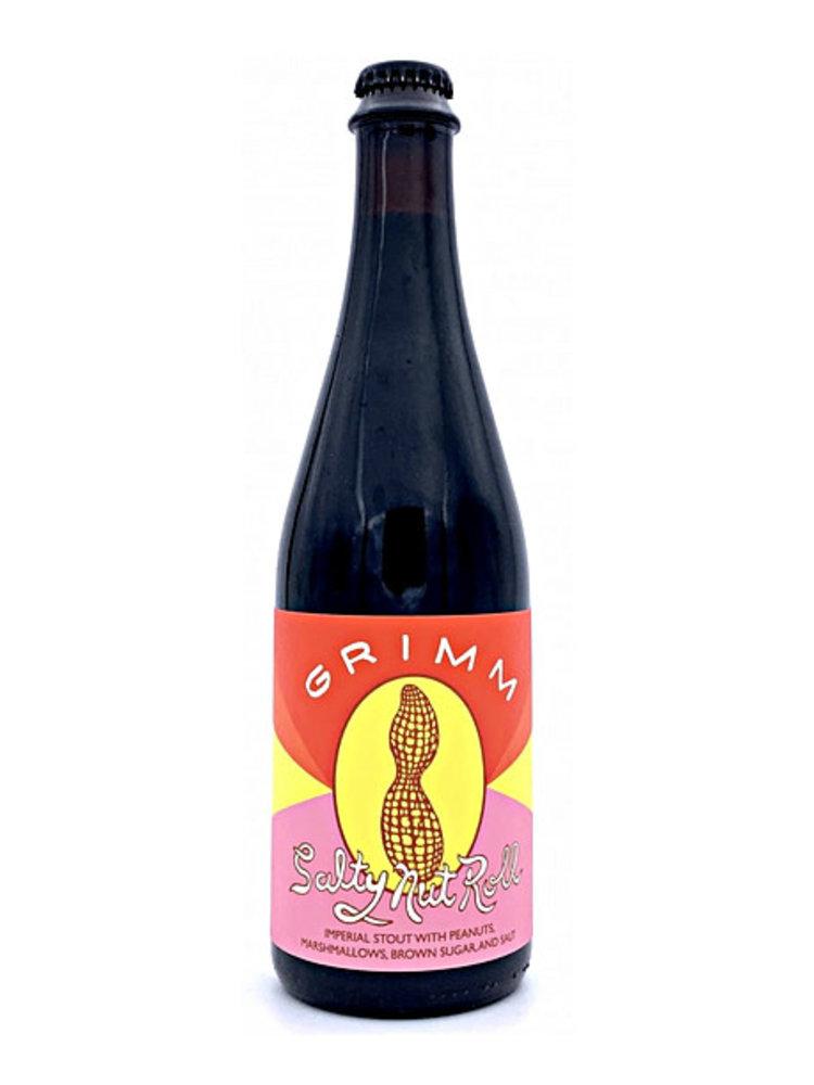 "Grimm Brewing ""Salty Nut Roll"" Imperial Stout w/ Peanuts, Marshmallows, Brown Sugar & Salt 16.9oz. Bottle - Brooklyn, NY"