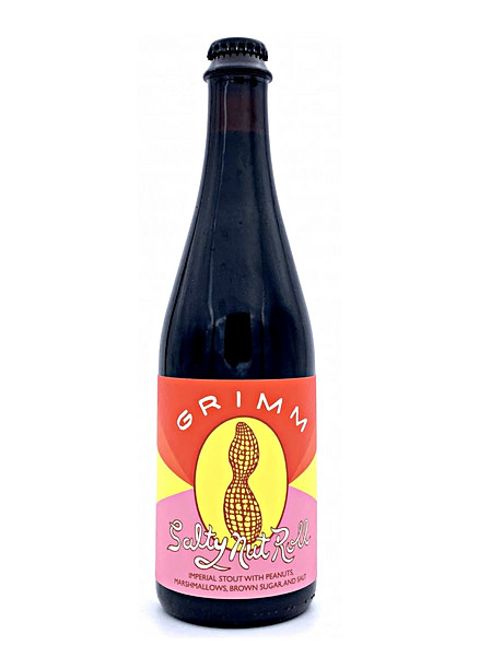 "Grimm Brewing ""Salty Nut Roll"" Imperial Stout w/ Peanuts, Marshmallows, Brown Sugar & Salt 16.9oz. Bottle - Brooklyn, NY"