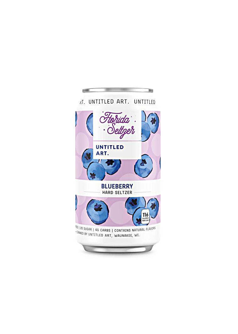 "Untitled Art ""Florida Seltzer: Blueberry"" 12oz. Can - Waunakee, Wisconsin"