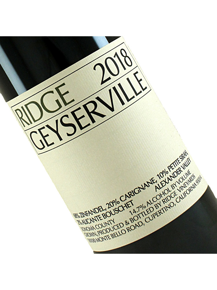 Ridge Vineyards 2018 Geyserville Red Blend, Sonoma County