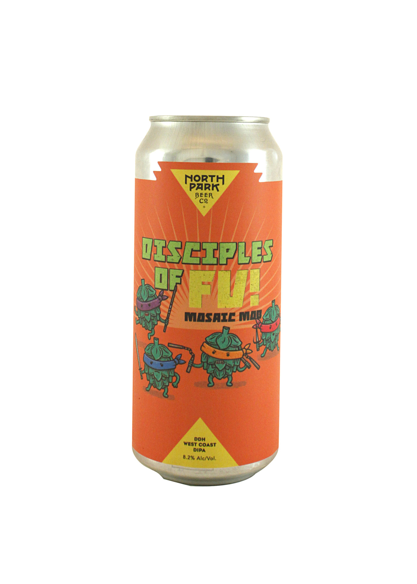"""North Park Beer Co """"Disciples of Fu!-Mosaic Mob"""" DDH West Coast IPA16oz can-San Diego, CA"""