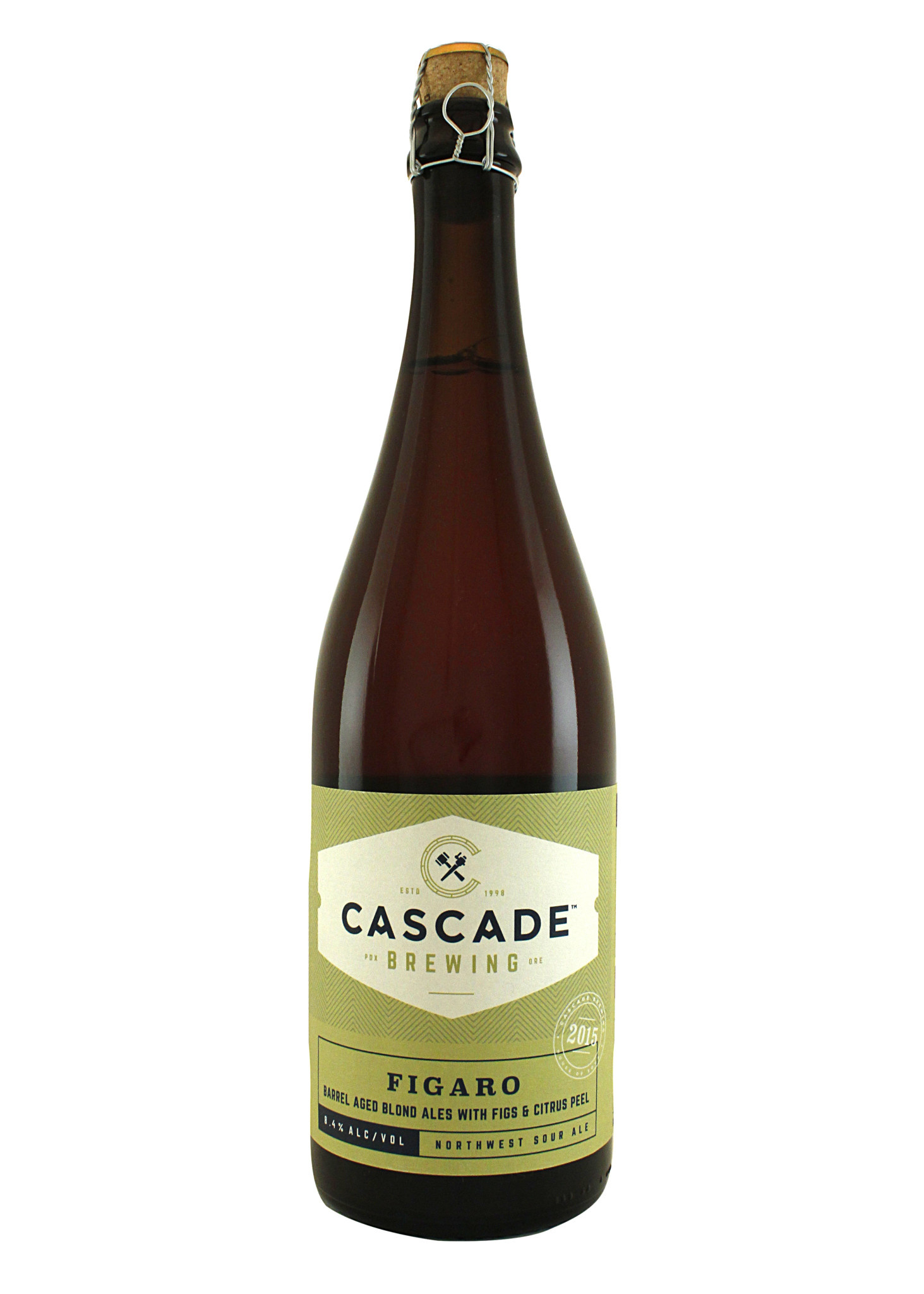 "Cascade Brewing 2015 ""Figaro"" Blond Ales  w/Figs & Citrus Peel Sour Ale 750ml Portland, OR"