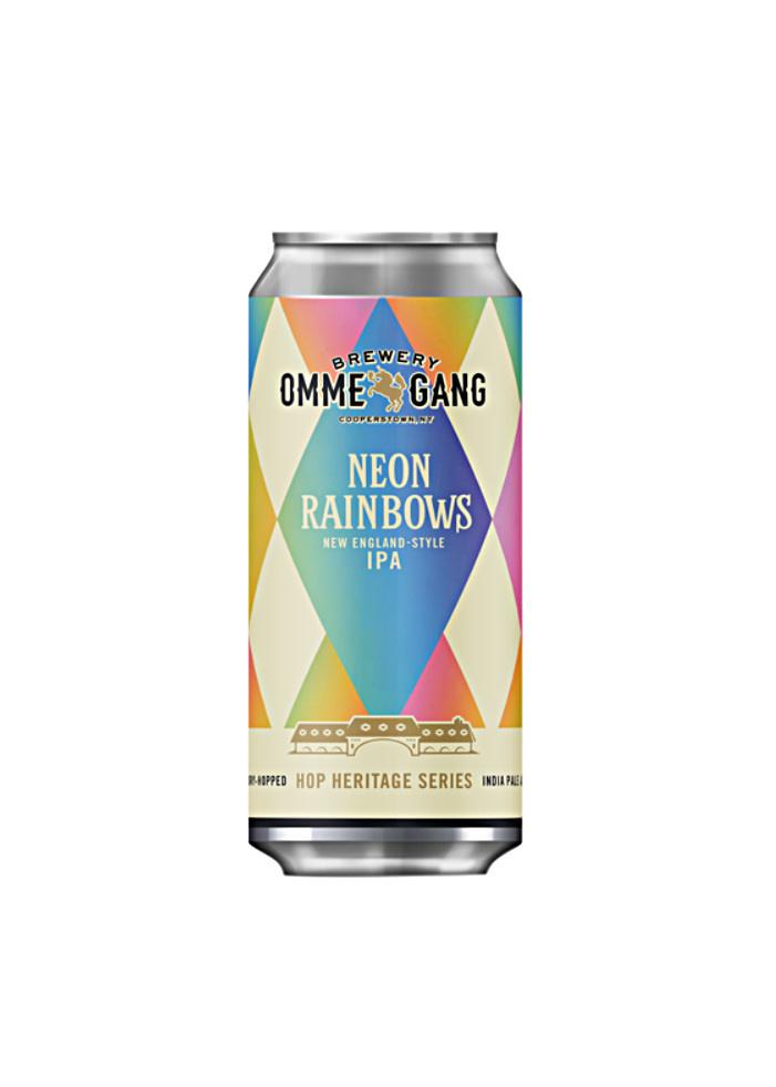 "OMMEGANG ""Neon Rainbows"" Hazy IPA 16oz can-"