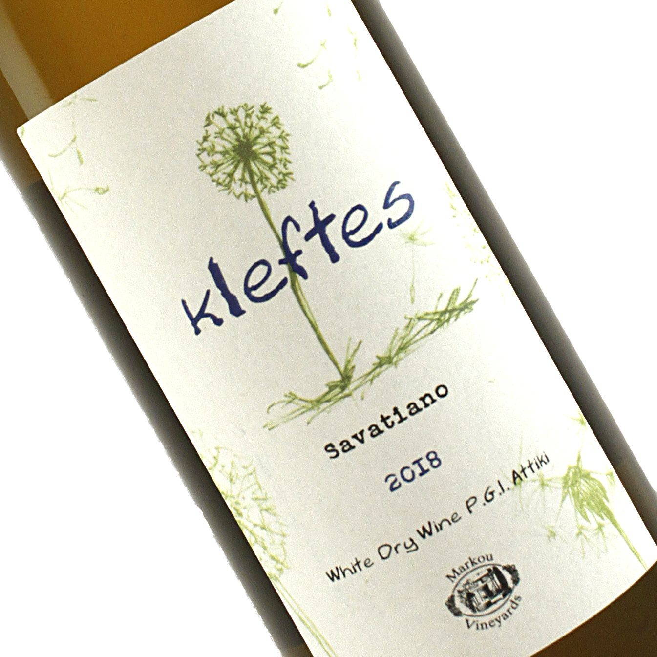 "Markou 2018 Savatiano ""Kleftes"" White Wine, Greece"