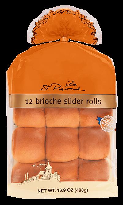 St. Pierre Brioche Slider Rolls, 12 count